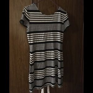 Blue and white striped tunic/dress